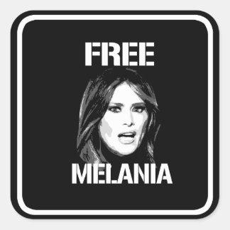 FREE MELANIA - WHITE - SQUARE STICKER