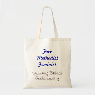Free Methodist Feminist Tote Bag (Blue)
