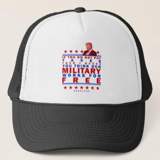 FREE MILITARY TRUCKER HAT