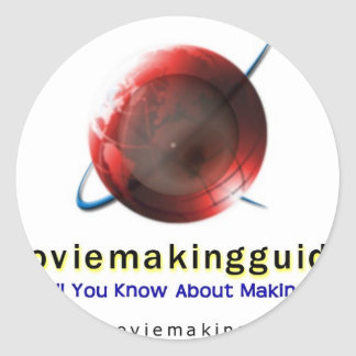 free movie making guide.com Logo Round Sticker