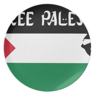 Free Palestine - فلسطين علم  - Palestinian Flag Plate