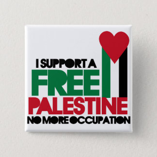 Free Palestine 2 Inch Square Button