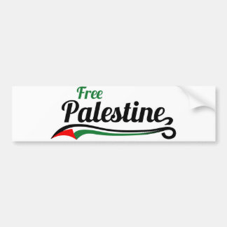 Free Palestine, Baseball Style Bumper Sticker
