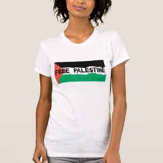 FREE PALESTINE BLOODY TEXT WAVY FLAG T-Shirt