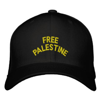 Free Palestine: Custom Baseball Cap (Black)