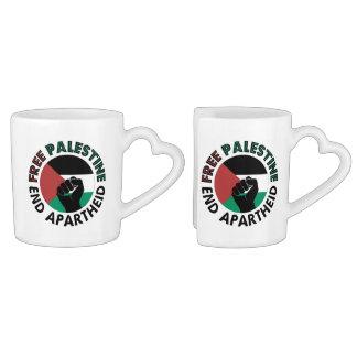 Free Palestine End Apartheid Palestine Flag Lovers Mug Set