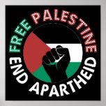 Free Palestine End Apartheid Palestine Flag Poster