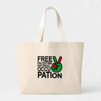 Free Palestine end Israeli Occupation T-Shirts.png Large Tote Bag