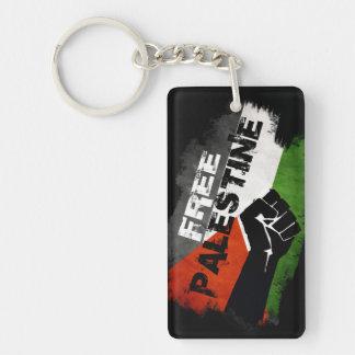 Free Palestine Flag (distressed) Single-Sided Rectangular Acrylic Keychain