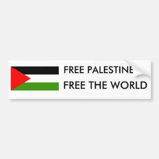 FREE PALESTINE FREE THE WORLD BUMPER STICKER