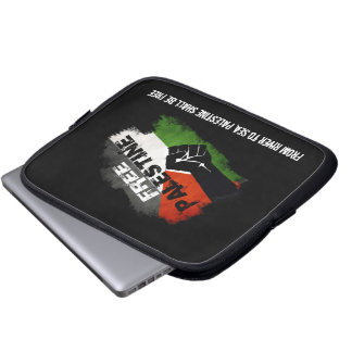 Free Palestine - Grunge Flag with QUote Laptop Sleeve