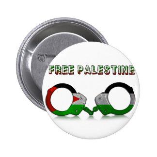 Free Palestine Handcuffs 2 Inch Round Button