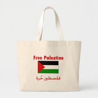 Free Palestine Large Tote Bag