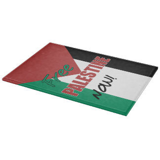 Free Palestine Now Palestinian Flag Cutting Boards