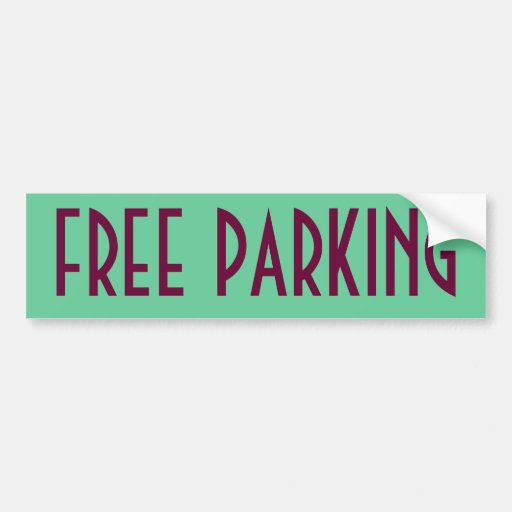 Free Parking Bumper Stickers