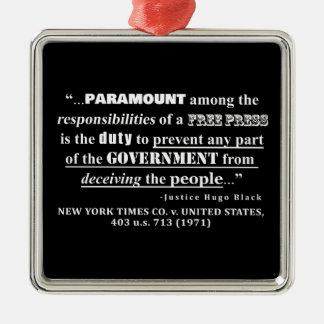 Free Press Quote Case Law (1971) Metal Ornament