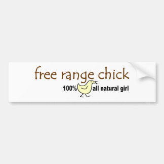 Free Range Chick 2 Bumper Sticker