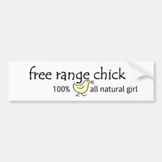 Free Range Chick Bumper Sticker