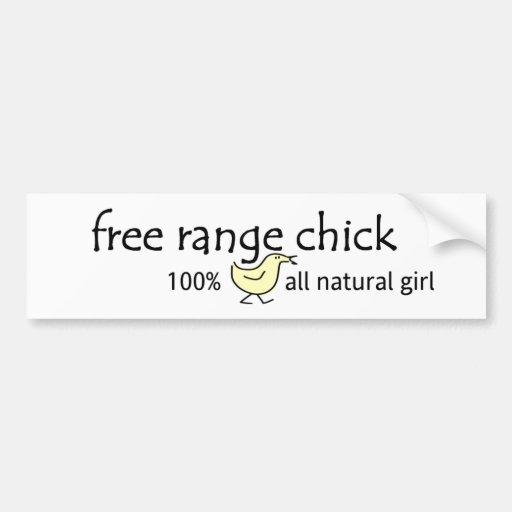 Free Range Chick Bumper Stickers