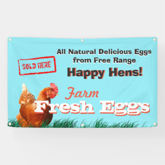 Free Range Chicken Eggs Sold Here Banner