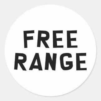 Free Range Classic Round Sticker