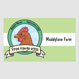 Free range eggs egg box sticker