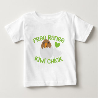 Free Range KIWI chick New Zealand Baby T-Shirt