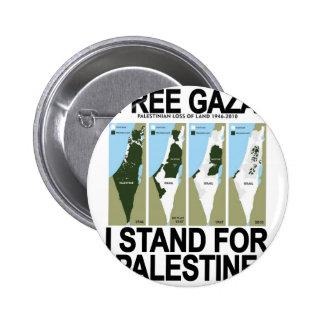 FREE SAFE GAZA PALESTINE.png 2 Inch Round Button