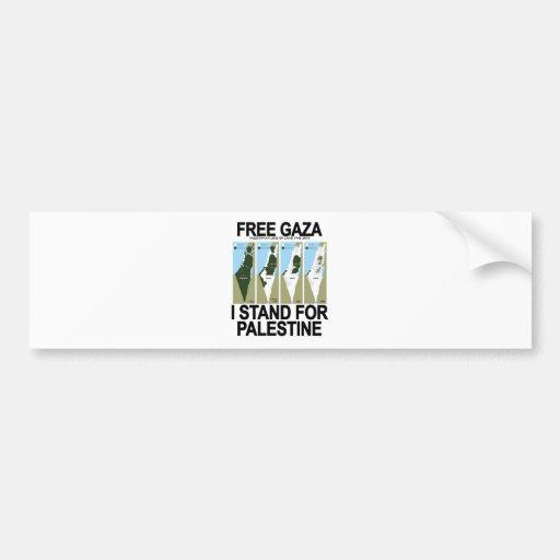 FREE SAFE GAZA PALESTINE.png Bumper Stickers