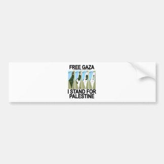 FREE SAFE GAZA PALESTINE png Bumper Stickers