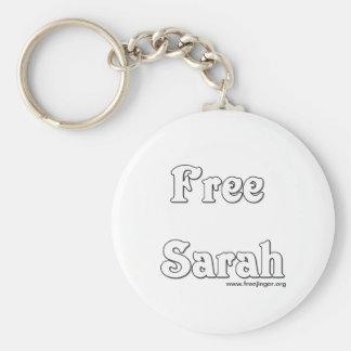 Free Sarah Basic Round Button Keychain