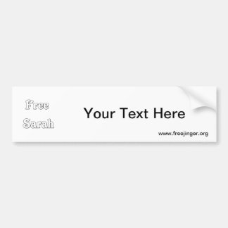 Free Sarah Bumper Stickers