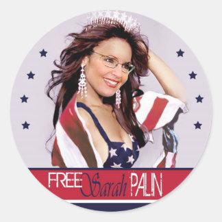 Free Sarah Palin Round Sticker
