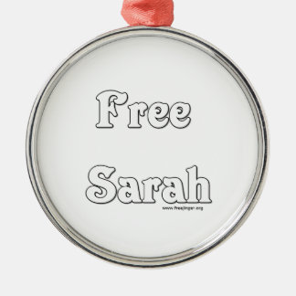 Free Sarah Silver-Colored Round Ornament