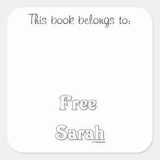 Free Sarah Square Sticker