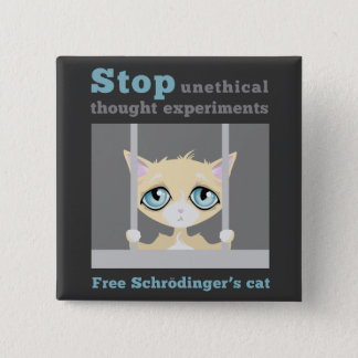 Free Schrodinger's Cat 2 Inch Square Button