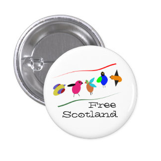 Free Scotland Cartoon Bird Pinback 1 Inch Round Button