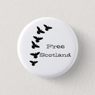 Free Scotland Flying Pigeons Pinback 1 Inch Round Button
