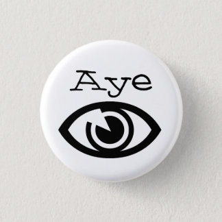 Free Scotland Retro Eye Aye Art Button Badge