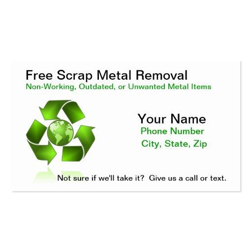 Free Scrap Metal Removal Business Card