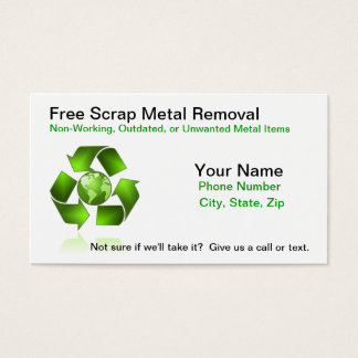 Free Scrap Metal Removal Business Card