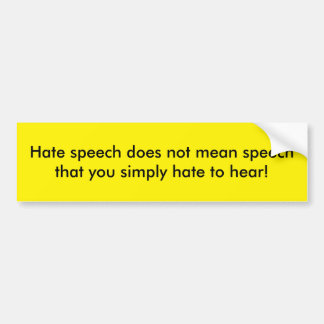 Free Speech bumper sticker
