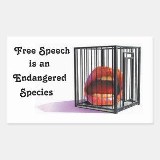 Free Speech Is an Endangered Species Sticker