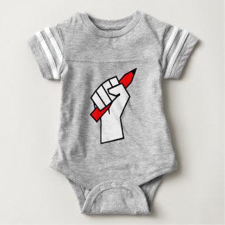 Free Speech Pencil in Fist Baby Bodysuit
