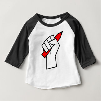Free Speech Pencil in Fist Baby T-Shirt