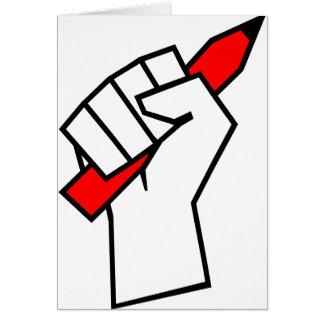 Free Speech Pencil in Fist Card