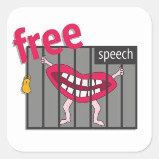Free Speech! Square Sticker
