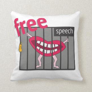 Free Speech! Throw Pillow