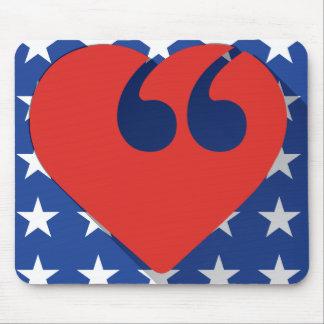 Free Speech USA Love Mouse Pad