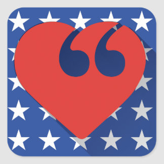 Free Speech USA Love Stickers